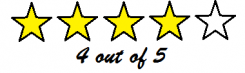 image showing four out of five star reviews
